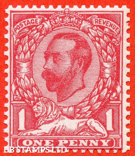 SG. 331. N8 (8). 1d Rose Pink. A very fine UNMOUNTED MINT example of this difficult George V Downey shade variety.