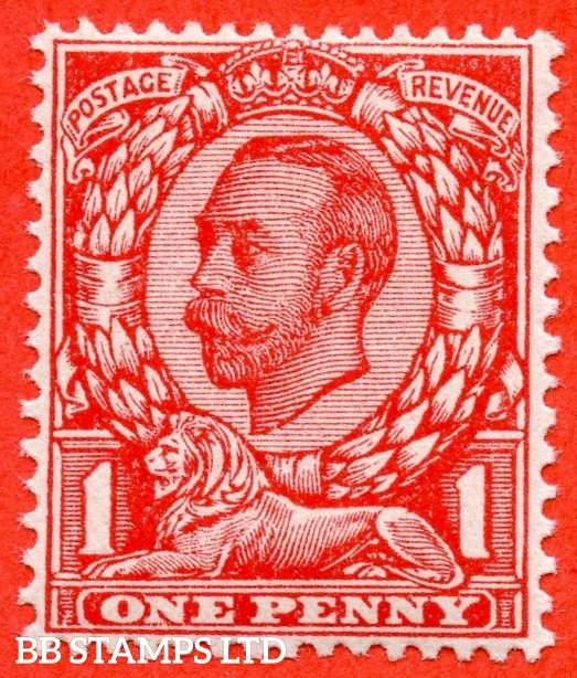 "SG. 341 a. Variety N11 (UNLISTED) b. 1d Deep Scarlet. Die 2. A fine UNMOUNTED MINT example of this known but unlisted by SG. Downey head variety. Clearly showing the "" NO CROSS ON CROWN variety."