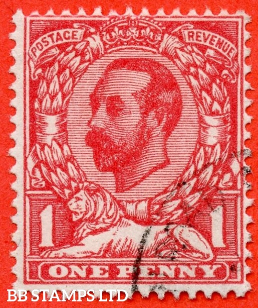 SG. 328a. Variety N7 (1) f. 1d carmine red. Die A. A very fine CDS used example clearly showing the RARE variety ' No Cross On Crown '. A very RARE and underated stamp.