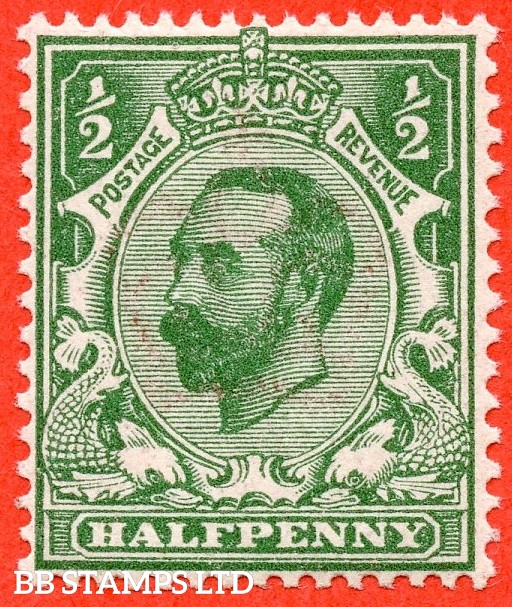 SG. 323. N1 (4). ½d Bluish Green. Die 1A. A super UNMOUNTED MINT example of this scarcer Downey shade complete with RPS certificate.