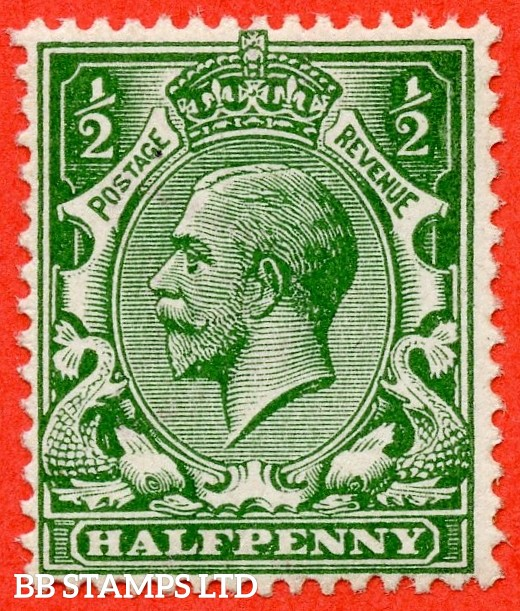 SG. 352 variety N14 (7). ½d deep bright green. A fine UNMOUNTED MINT example complete with Hendon certificate and so good for reference.