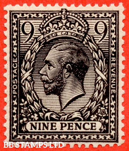 SG. 392 variety N29 (4). 9d very deep agate. A super UNMOUNTED MINT example of this scarce and underrated George V shade. Complete with Brandon certificate.