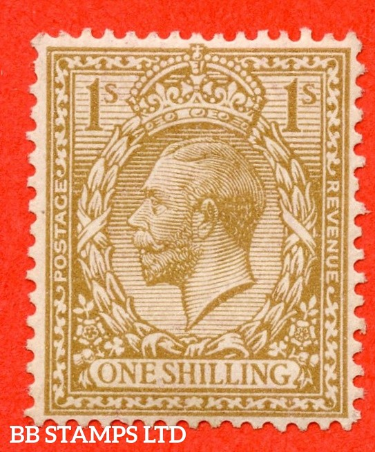 SG. 395 variety N32 (5). 1/- pale buff brown. WATERMARK TYPE I. A very fine UNMOUNTED MINT example complete with RPS certificate. This being only the second recorded example with type I watermark. A RARE stamp.