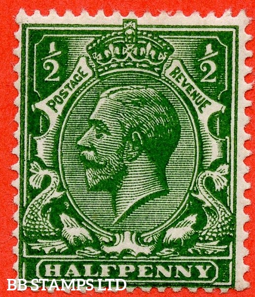 SG. 356 variety N14 (16). ½d Deep Myrtle Green. A Very fine UNMOUNTED MINT example of this very difficult George V shade complete with RPS certificate.