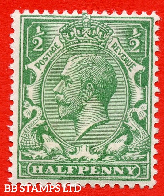 SG. 356 variety N14 (UNLISTED). ½d pale blue green. A fine UNMOUNTED MINT example of this known but unlisted by SG. George V shade variety complete with Hendon certificate.