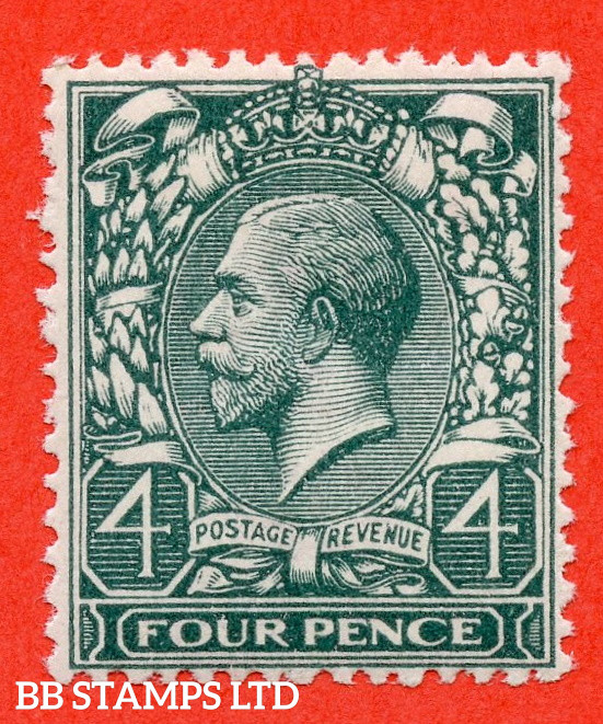 SG. 379wj. N23 (1) c. 4d Grey Green. REVERSED WATERMARK.  A very fine UNMOUNTED MINT example complete with RPS certificate.