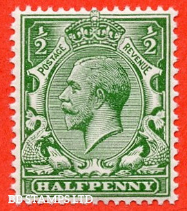 SG. 351. N14 (1). ½d Green. A super UNMOUNTED MINT example complete with RPS certificate which is excellent for reference.
