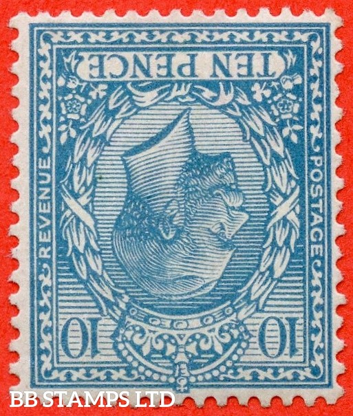 SG. 394 wi. N31 (2) a. 10d Turquoise - Blue. INVERTED WATERMARK. A very fine well centred UNMOUNTED MINT example with the RARE watermark variety.