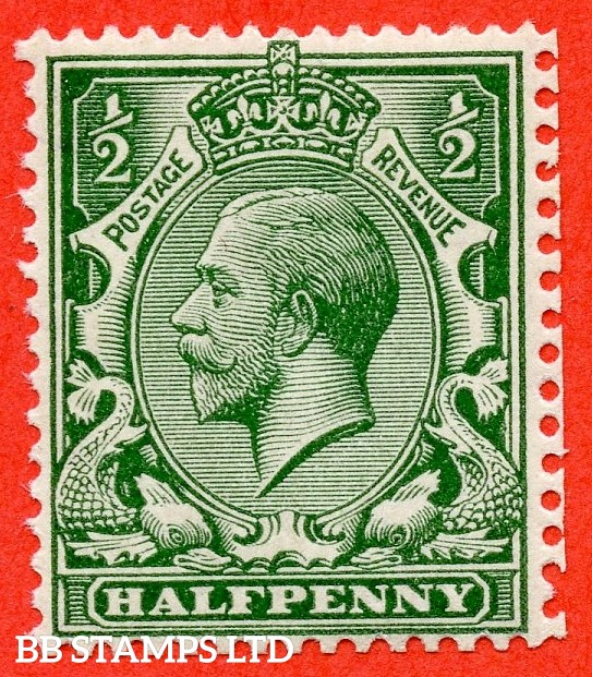 SG. 356 variety N14 (15) ½d Deep Blue ( Myrtle ) Green. A super UNMOUNTED MINT example complete with RPS certificate.