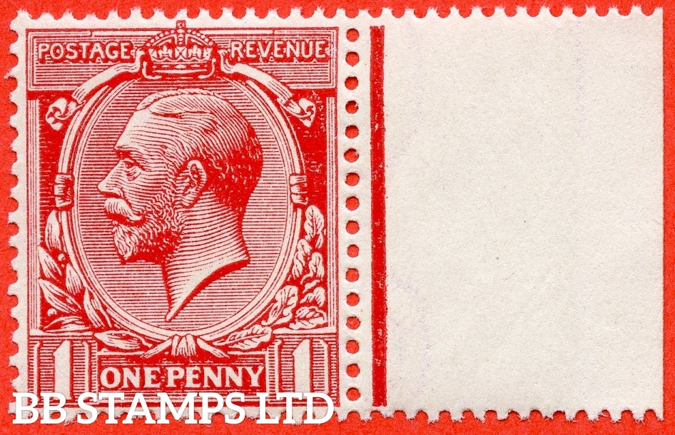 SG. 360 variety N16 ( UNLISTED). 1d dull carmine. A fine UNMOUNTED MINT right hand marginal example of this known but unlisted by SG. Shade variety. Complete with Hendon certificate.