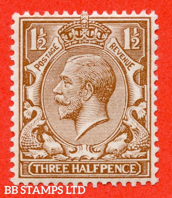 SG. 363 variety N18 (9). 1½d pale brown. A super UNMOUNTED MINT example of this RARE George V shade variety complete with BRANDON certificate.