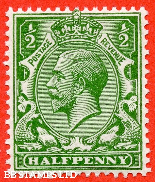 SG. N14 ( UNLISTED ). ½d deep bright yellow green. A fine UNMOUNTED MINT example of this known but unlisted by SG shade variety complete with Hendon certificate.