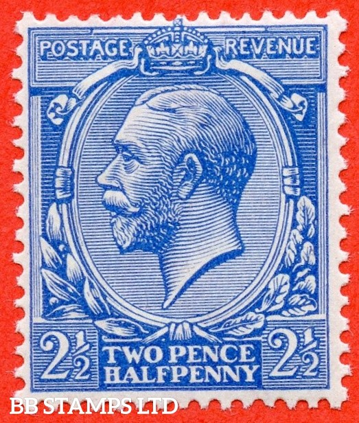 SG. N21 (UNLISTED). 2½d bright cobalt violet blue. A very fine UNMOUNTED MINT example of this known but unlisted by SG. George V shade variety complete with Hendon certificate.