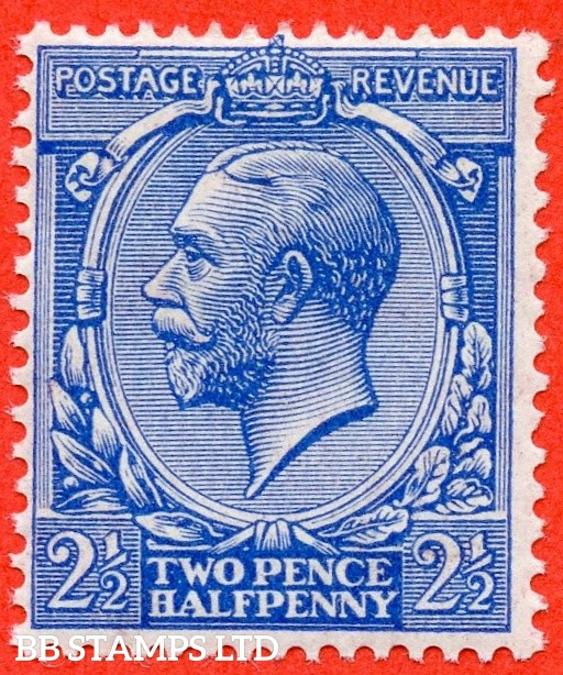 SG. 371 variety N21 (UNLISTED)  2½d Bright Cobalt Blue. A Superb UNMOUNTED MINT example of this known but unlisted by SG shade variety complete with Hendon certificate.