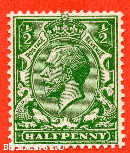 SG. 353 variety N14 (5). ½d Very Deep Green. A superb UNMOUNTED MINT example complete with RPS certificate.