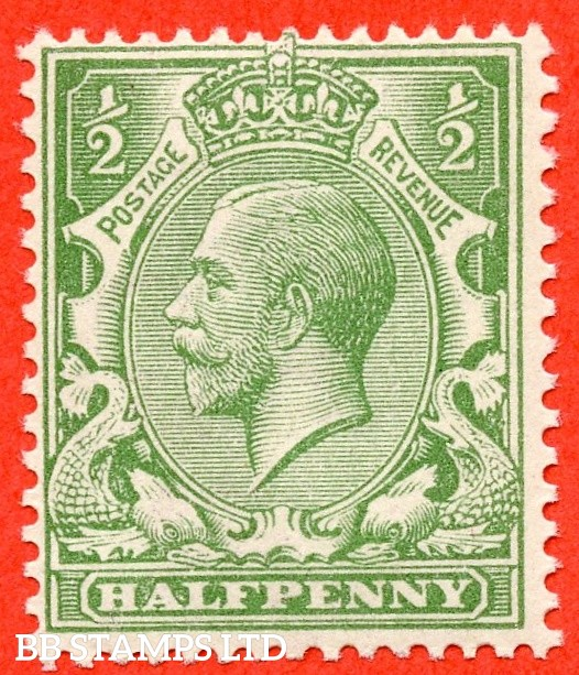 SG. 353 variety N14 (4). 1/2d very pale green. A very fine UNMOUNTED MINT example of this scarce George V shade complete with RPS certificate.