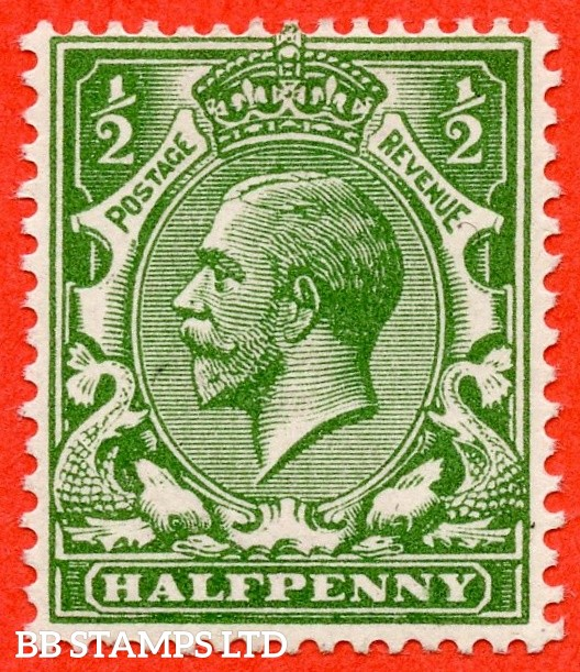 SG. 354 variety N14 (UNLISTED). ½d deep yellow green. A super UNMOUNTED MINT example of this known but unlisted by SG. George V shade variety. Complete with Hendon certificate.