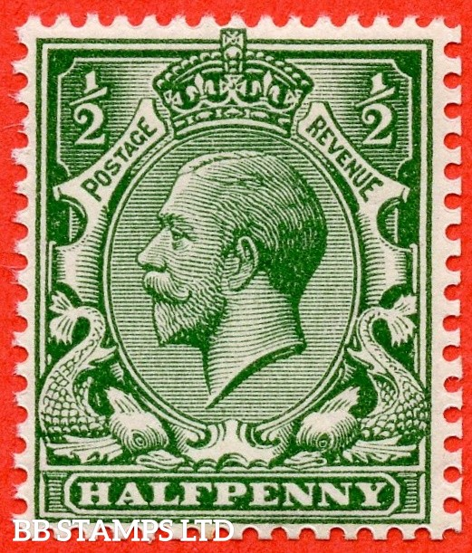 SG. 353. N14 (2)  1/2d deep green. A fine UNMOUNTED MINT example complete with Hendon certificate. An excellent reference example.