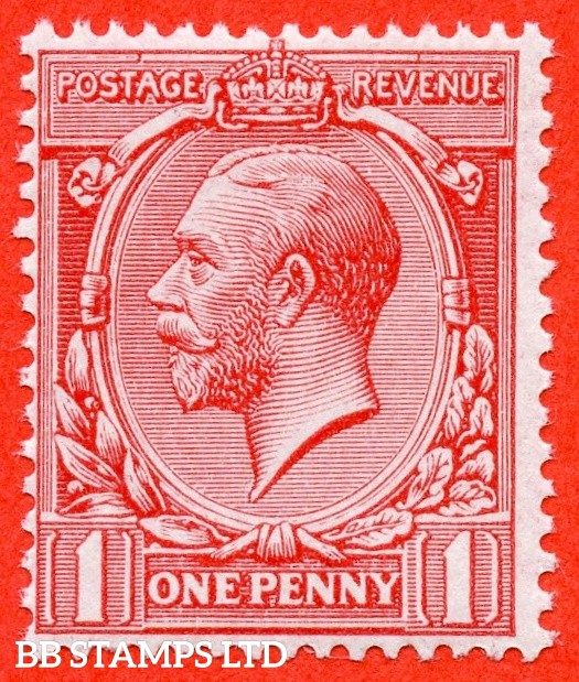 SG. 359 variety N16 (UNLISTED). 1d pale bright carmine ( VERY PALE SHADE ). A superb UNMOUNTED MINT example of this scarce known but UNLISTED by SG. George V shade variety. With Hendon certificate.