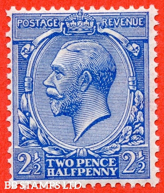 SG. 371 variety N21 (UNLISTED)  2½d Bright Cobalt Blue. A fine mounted mint example of this known but unlisted by SG shade variety complete with Hendon certificate.