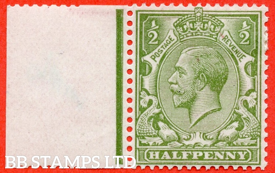 SG. 355. N14 (10). ½d very yellow ( Cyprus ) green. A very fine mounted mint left hand marginal example complete with BPA & RPS certificates.