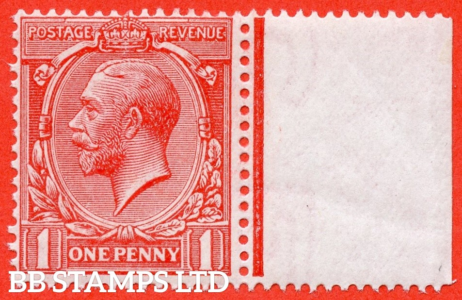 SG. 360 variety N16 (UNLISTED). 1d bright rose carmine. A fine UNMOUNTED MINT right hand marginal example of this known but unlisted by SG. Shade variety. Complete with Hendon certificate.