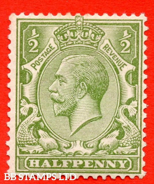 SG. 355. N14 (10). ½d Very yellow ( Cyprus ) green. A very fine UNMOUNTED MINT example of this very RARE George V shade complete with RPS certificate.