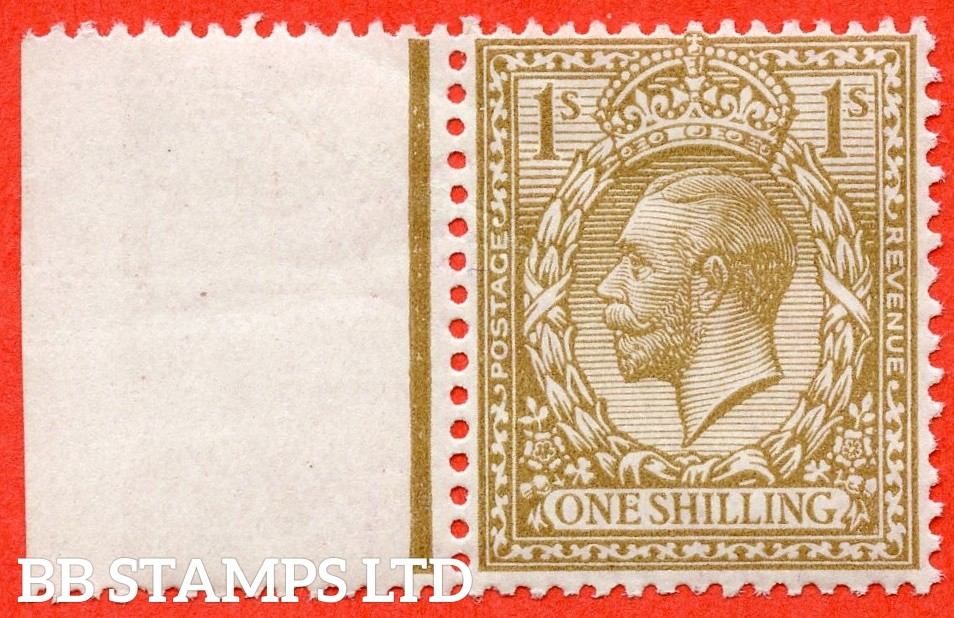 SG.396. N32 (7). 1/- bistre - brown. A super UNMOUNTED MINT left hand marginal example complete with Hendon certificate. An excellent reference example.