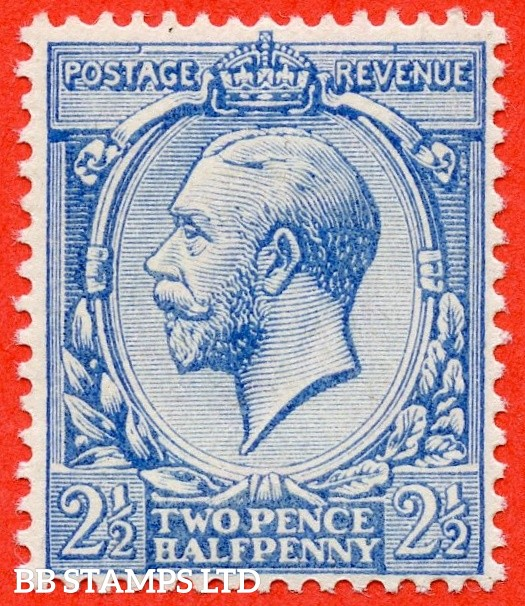 SG. 371a variety N21 (7). 2½d Pale milky blue ( Worn Plate ). A superb UNMOUNTED MINT example of this RARE George V shade complete with RPS certificate.