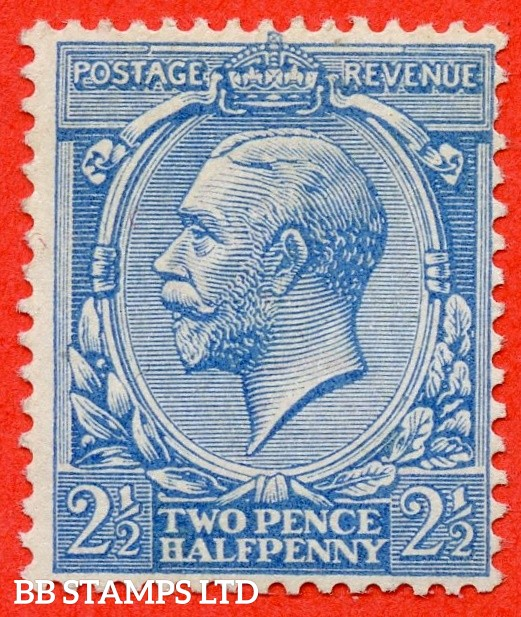 SG. N21 (7). 2½d Pale milky blue ( Worn Plate ). A superb UNMOUNTED MINT example of this RARE George V shade complete with RPS certificate.