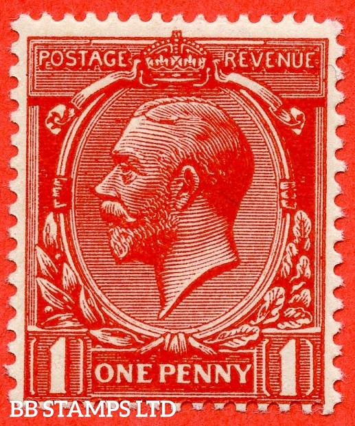 SG. 361 variety N16 (UNLISTED). 1d Deep Bright Scarlet Vermilion. A fine UNMOUNTED MINT example of this known but unlisted by SG. George V shade variety complete with Hendon certificate.