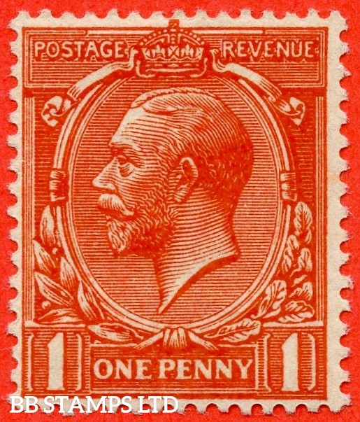 SG. 361 variety N16 ( UNLISTED ). 1d BRIGHT ORANGE VERMILION. A fine UNMOUNTED MINT example of this known but unlisted by SG. George V shade variety complete with Hendon certificate.