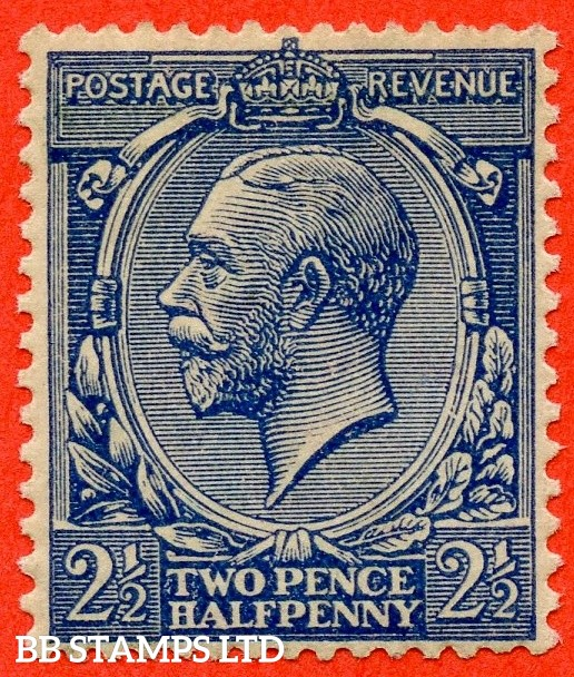 SG. 373. N21 (14). 2½d Indigo Blue. A superb UNMOUNTED MINT example of this VERY RARE George V shade complete with RPS certificate.