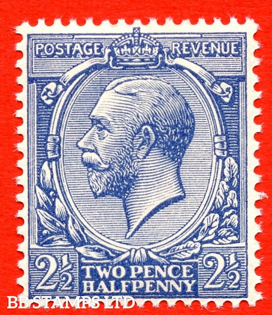 SG. 372 variety N21 (UNLISTED). 2½d DULL VIOLET BLUE. A super UNMOUNTED MINT example of this known but unlisted by SG. George V shade variety. Complete with Hendon certificate.