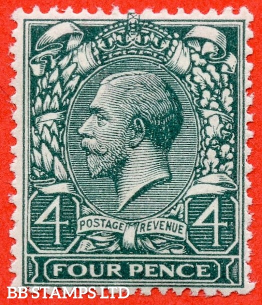 SG. 379 wj. N23 (1) c. 4d Grey Green. REVERSED WATERMARK.  A very fine UNMOUNTED MINT example complete with RPS certificate.