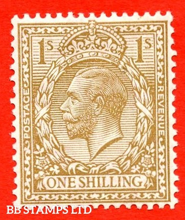 SG.396. N32 (7). 1/- bistre - brown. A mounted mint example complete with RPS certificate. An excellent reference example.