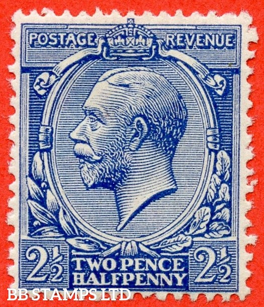 SG. 371a variety N21 (UNLISTED). 2½d PALE VIOLET BLUE. A super lightly mounted mint example of this known but unlisted by SG. George V shade variety complete with Hendon certificate.
