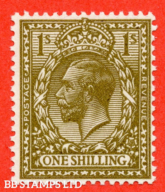 SG. 396 variety N32 (10). 1/- Deep Bronze - Brown. A superb UNMOUNTED MINT example of this RARE and underrated George V shade variety complete with RPS certificate.