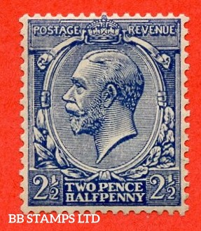SG. 373 variety N21 (15). 2½d Indigo Blue ( toned paper ). A superb very lightly mounted mint example of this VERY RARE George V shade. Complete with RPS certificatet.