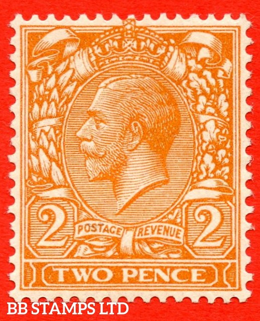 SG. 421. N36 (1)a. 2d Orange NO WATERMARK. A fine lightly mounted mint example of this RARE George V variety.