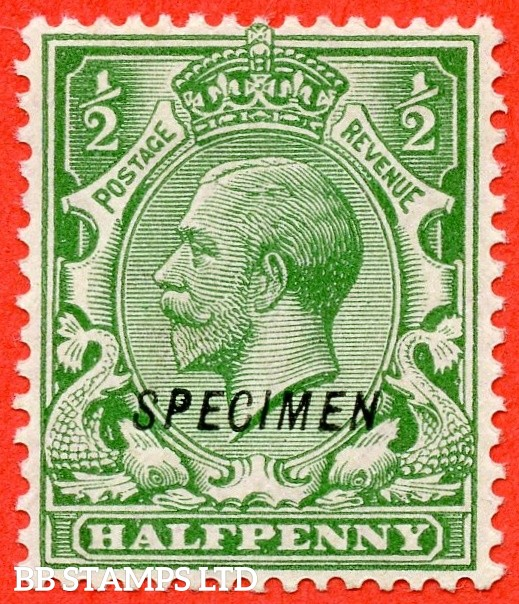 """SG. 418 s. N33 (1) t. ½d green. A fine mounted mint example overprinted """" SPECIMEN """" type 23."""