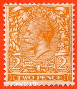 SG. 421a. N36 (1) a. 2d Orange NO WATERMARK. A superb UNMOUNTED MINT example of this RARE George V variety.