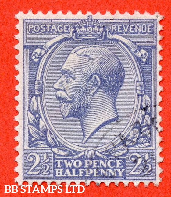 SG. 422a variety N37 (2) a. 2½d Pale Blue. NO WATERMARK. A superb very fine used example of this RARE George V ERROR.