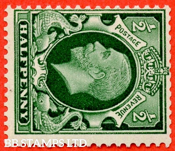 "SG. 439 a wi. N47 (1) c. ½d green. A very fine UNMOUNTED MINT example of the RARE variety "" WATERMARK SIDEWAYS INVERTED "". Grossly undervalued in SG. Complete with RPS certificate."