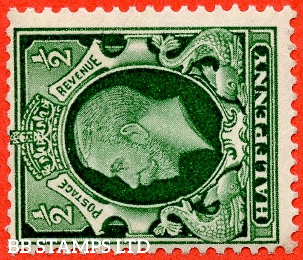 "SG. 439 a wi. N47 (1) c. ½d green. A very fine UNMOUNTED MINT example of the RARE variety "" WATERMARK SIDEWAYS INVERTED "". Grossly undervalued in SG."