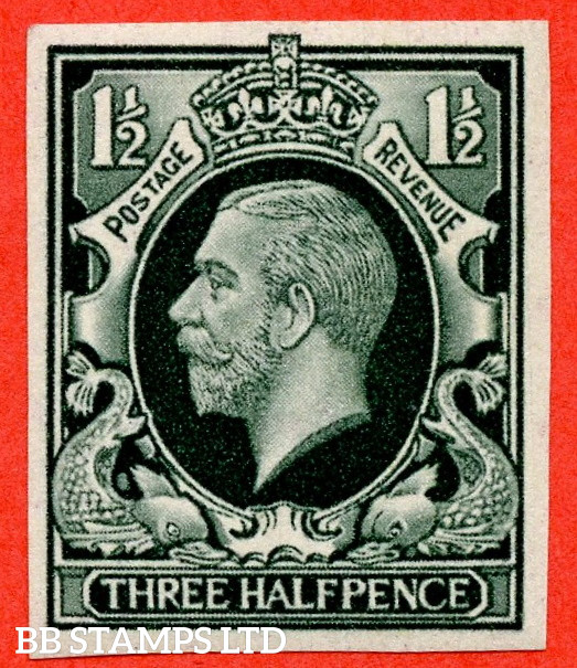 SG. 441 variety.1934 Photogravure 1½d Deep Grey Green Colour Trial. A very fine mounted mint example.