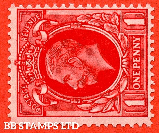 SG. 440 cwi. N50 (1) c. 1d Scarlet. A super UNMOUNTED MINT example with the scarce Watermark SIDEWAYS INVERTED variety.