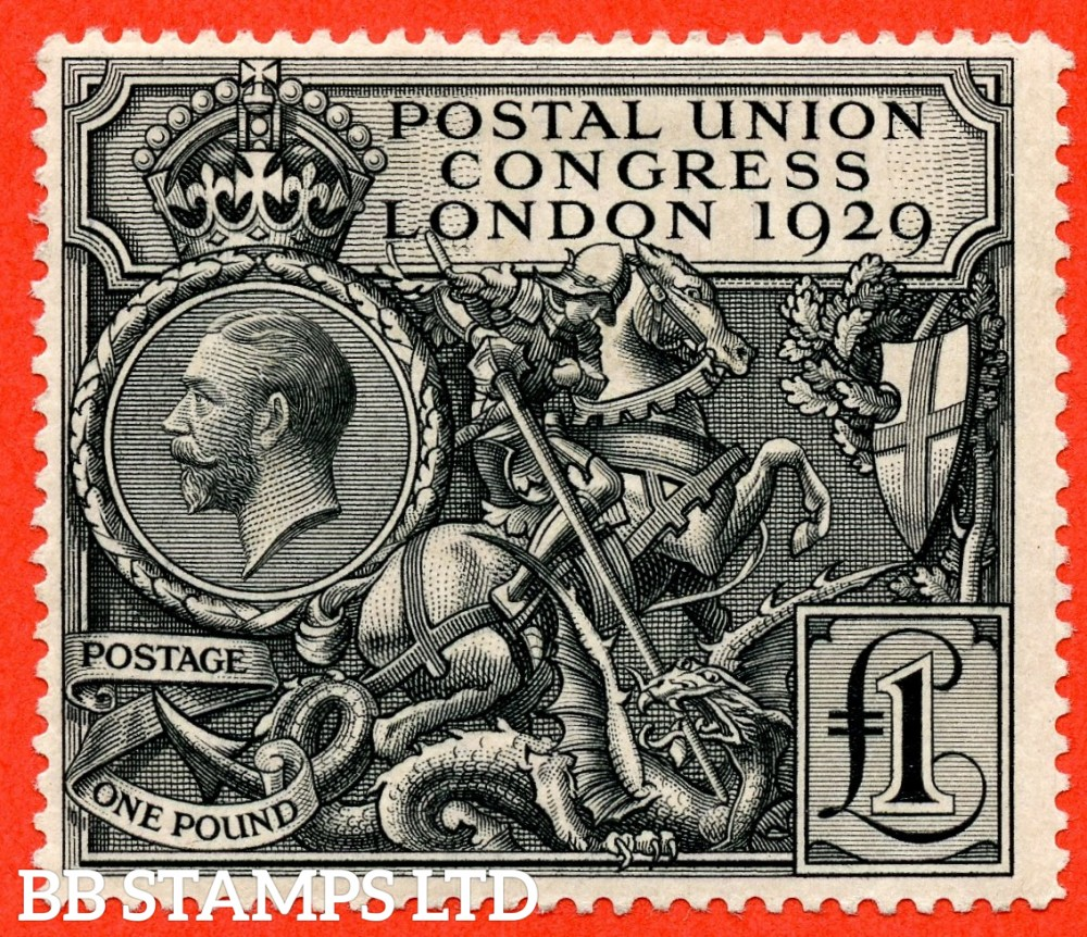 SG. 438. NCom9. £1.00 Postal Union Congress. A fine mounted mint example