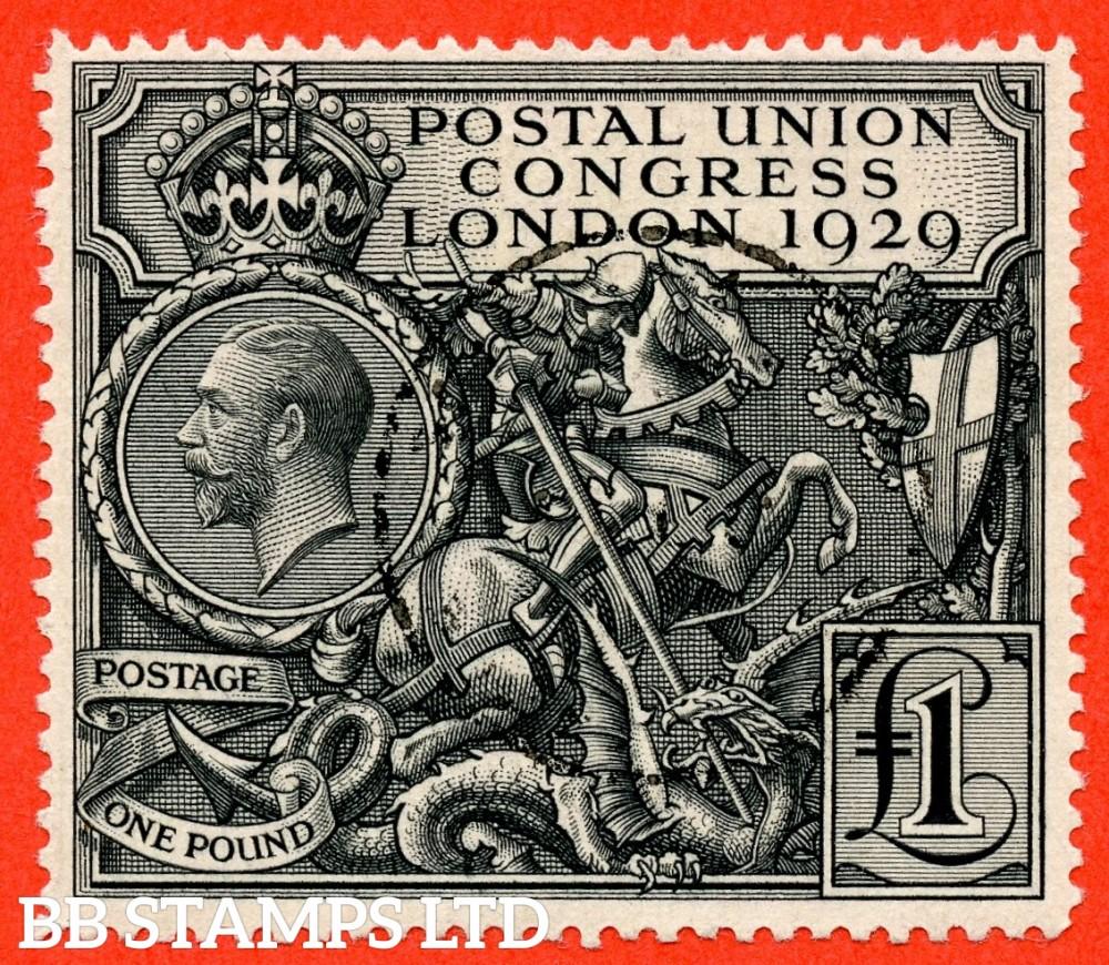 SG. 438. NCom9. £1.00 Postal Union Congress. A very fine used example.
