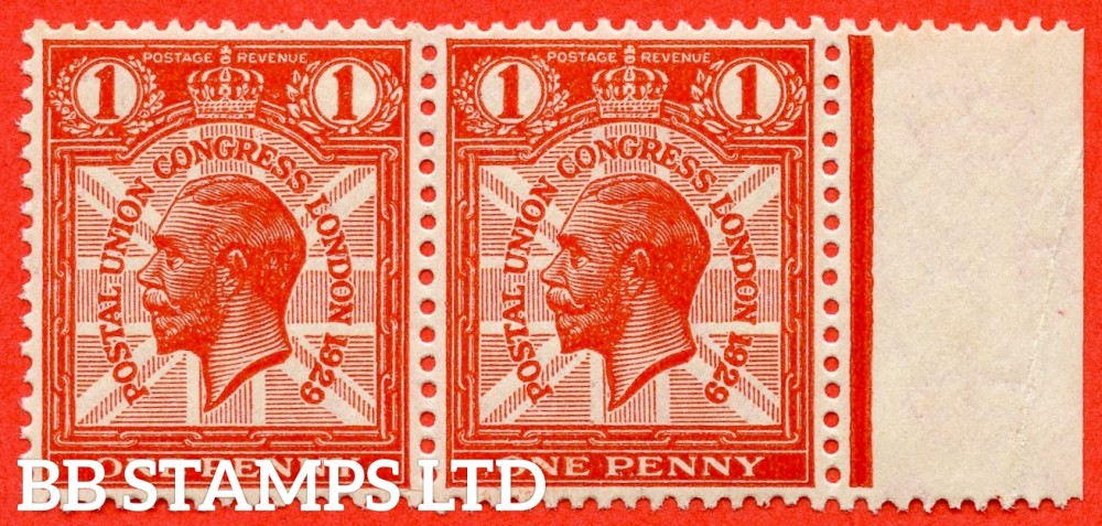 "SG. 435. NCom6 e. 1d scarlet. A superb UNMOUNTED MINT right hand marginal horizontal pair with the left hand stamp having the listed variety "" CO joined. ( plate 2. Row 19/11  ""."